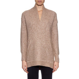 Vince Fuzzy Chevron Long Sweater L